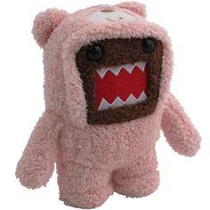 """Domo 6.5\"""" Plush: Bear Kigurumi"""