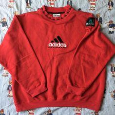 Image of Vintage Red Adidas Equipment Sweatshirt (M)