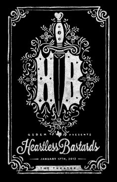Heartless Bastards poster designed by Marc Ferrino Concert Posters, Theatre Posters, Music Posters, Roadside Attractions, Design Inspiration, Design Ideas, Darth Vader, Presents, Drawings