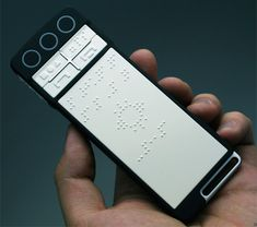 B-Touch Mobile Phone: Imagine how much easier it would be for the visually impaired to perform everyday tasks like talking on the phone, reading a book and recognizing objects if they had an accessible all-in-one device like the B-Touch Mobile Phone concept. Designer Zhenwei You incorporated braille, voice systems and optical reading devices.