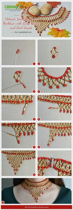 How-to-Make-Delicate-Beading-Choker-Necklace-with-Bulge-Beads-and-Seed-Beads