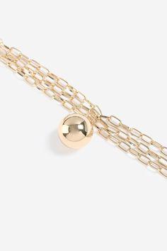 e9d92cb3644a Damen Sportliche Halskette mit Kugel und Zierkette Gold   5045431121707 -  Kategorie  Damen Sale Goldfarbene