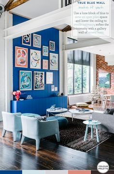 Palette Addict: Perfecting A Blue Feature Wall