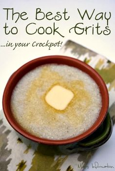 Cook grits in your crockpot for the creamy smooth grits every time!
