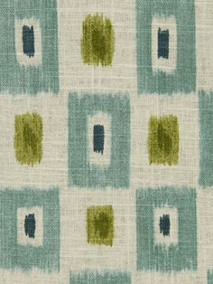Teal Ikat Fabric Designer Fabric by the Yard by greenapplefabrics, $54.00