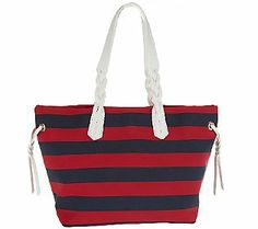 Dooney & Bourke Nylon Striped Shopper