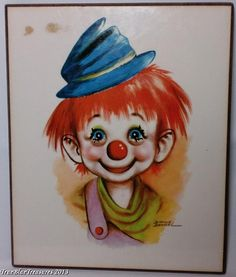 Any other items aside from the Dianne Dengel clown prints shown in the photographs above are not included in this auction. Description from ebay.com. I searched for this on bing.com/images