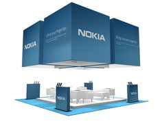 Large Island Trade Show Booth Design