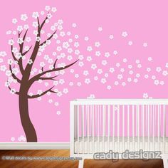 Cherry Blossom Vinyl Wall Art Tree Decal  Flower by CadyDesignz, $120.00