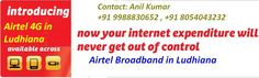 Airtel Broadband in chandigarh Provides you the best plans of each service like Wifi, 4G, 3G, Leased Line, Broadband etc. We deliver best internet teriff and schemes, with ver smooth billing, free set up at home. We have lots of customer using our internet airtel broadband servie in chandigarh and it's nearby area like mohali, panchkula, zirakpur etc.