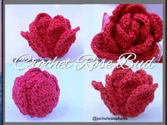 If I ever get really good..... How To Crochet Rosebud (Crochet Flower #18) - YouTube