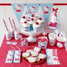 Kit Imprimibles Gratis Fiesta Hello Kitty | Cumpleaños Personalizados
