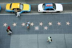 Hollywood Blvd - Walk of Fame: stars on the sidewalk