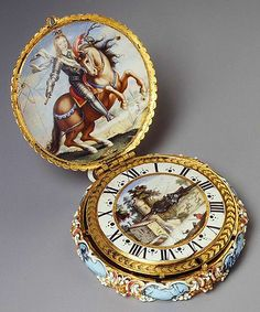 Elaborately jeweled pocket Watch made for the young Louis XIV, Paris, 1645-1648.