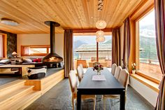 Catered luxury ski vacation rental in Saas Fee with private sauna Saas Fee, Chalet Design, Swiss Chalet, Luxury Accommodation, Luxury Resorts, Cozy Fireplace, Winter House, Best Interior, Interior Design