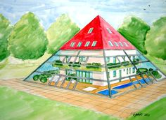 33 Best Pyramid shaped buildings images   Pyramid house ...
