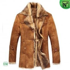 Fur Lined Mens Coat - m.cwmalls.com