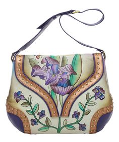 Love this Magnifique Bags Iris Leather Shoulder Bag by Magnifique Bags on #zulily! #zulilyfinds