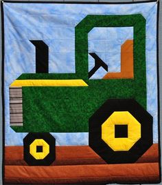 Tractor Quilt Pattern in 3 Sizes PDF por CountedQuilts en Etsy The Effective Pictures We Offer You About patchwork quilting jelly rolls A quality picture can tell you many things. You can find the mos Paper Piecing Patterns, Quilt Block Patterns, Pattern Paper, Quilt Blocks, Quilting Tutorials, Quilting Projects, Quilting Designs, Sewing Projects, Tractor Quilt