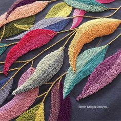 Chain Stitch Embroidery, Embroidery Stitches, Tin Can Art, Rug Hooking Designs, Beginner Knitting Patterns, Punch Needle Patterns, Flower Pillow, Butterfly Wings, Fabric Crafts