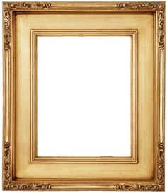 Craftsman-style frame with classic lightly scratched gold leaf finish, etched corner embellishments. Old Frames, Paper Frames, Ornate Picture Frames, Image Frames, Antique Pictures, Borders And Frames, Arts And Crafts Movement, Custom Framing, Arabesque
