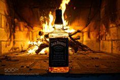 Pic: Jack Daniels on fire