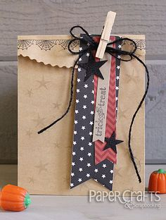 Trick or Treat bag by Kimberly Crawford - Paper Crafts & Scrapbooking blog