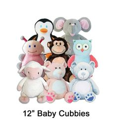 Personalized Stuffed Animal  Cubbie  You Choose by MyWoobyandMe, $29.99