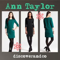 """Ann Taylor Shift Dress, 4 Zipper Detailed Doubleweave Shift Dress Brand new with tags!!! """"In an impeccably comfortable fabric ideal for travel, our winter-ready shift dress sports a marvelously mod silhouette complete with zipped up details. Jewel neck. 3/4 sleeves. Exposed metal front zippers. Hidden back zipper with hook-and-eye closure. Lined. 18 1/2"""" from natural waist."""" Ann Taylor Dresses"""