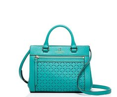 Kate Spade Mini Romy Leather Satchel Shoulder Bag Crossbody Turquoise Blue #katespade #Satchel