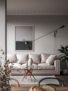 Calm living room inspiration. 3d rendering by DSE Visualisation and Interactive