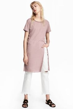 長版T恤 - Dusky pink - | H&M 1