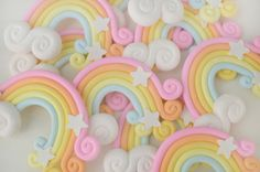 46mm HUGE Kawaii Rainbow Decoden Cabochon  2 by DarlingDollCharm