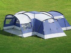 Skandika Nimbus Tente Camping Familiale 12 Pers 4 Cabines Bleu 2014 Neuve   eBay