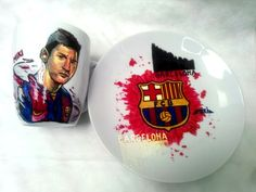 Handmade by Do : Lionel Messi- painted cup/ Cană pictată -Lionel Me. On October 3rd, July 4th, Greek Pattern, Ceramic Angels, Painted Cups, Flower Stands, Coffee Set, Hand Painted Ceramics, Ceramic Mugs