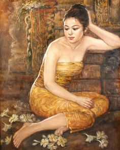 View Istirahat Sejenak By Josephine Linggar; oil on canvas; Access more artwork lots and estimated & realized auction prices on MutualArt. Indian Women Painting, Indian Paintings, Filipino Culture, Indonesian Art, Thai Art, Fine Art Auctions, Light Of Life, Magazine Art, Art Market