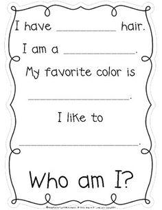 Class Book: Who Am I? ~ Freebie - Lori Rosenberg - TeachersPayTeachers.com