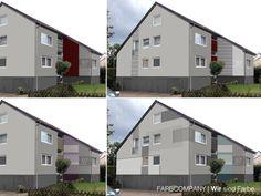 Kreative Entwurfsvarianten/ Fassadenentwürfe für ein Wohnhaus in Hannover. Farbkonzept, Farbharmonien