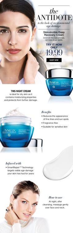 Avon Rep Tip: The antidote to the look of  environmental skin damage! Whether it is Winter, Spring, Summer or Fall.