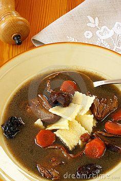 Polish   Czernina  Traditional sweet-sour soup.