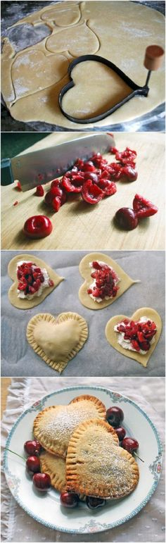 Sweetheart Cherry Pies - could use cream cheese instead of ricotta?