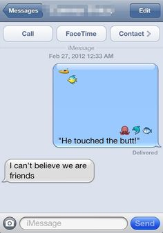 He touched the butt! lindsay_bee He touched the butt! He touched the butt! Blunt Cards, Lol, Youre My Person, Funny Text Messages, Thing 1, I Love To Laugh, Finding Nemo, Pics Art, Disney Love