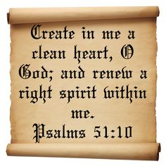 Famous Quotes From the Bible | famous short bible quotes prayers to God for a clean heart Psalms 51 ...
