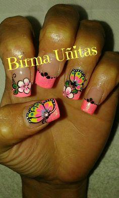 Kylie Lipstick, Fingernail Designs, French Tip Nails, Toe Nails, Pedicure, Hair Beauty, Nail Art, Margarita, Nail Stuff