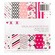 Ce bloc de papier 6 x 6 pouces contient 36 feuilles imprimées recto sur le thème de la Saint Valentin et de l'amour. Sans acide ni lignine. Il vous ...