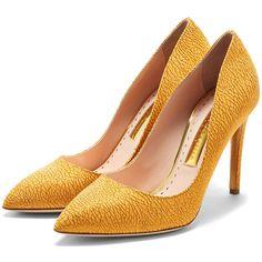 Rupert Sanderson High Heel Pumps ($675) ❤ liked on Polyvore featuring shoes, pumps, rupert sanderson, rupert sanderson pumps, high heeled footwear, high heel pumps and high heel shoes