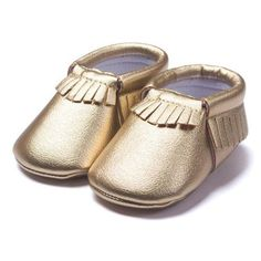 "Purchase these ""GLAMBABY Moccasins"" for your baby for the upcoming winter season. Designed with warm leather and cotton-blend lining, these prewalker moccasins are equipped with high-quality, anti-sli"