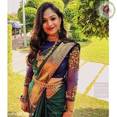 20 Ways to Style Your Sarees with Full Sleeves Blouse Full Sleeves Blouse Designs, Wedding Saree Blouse Designs, Pattu Saree Blouse Designs, Silk Saree Blouse Designs, Fancy Blouse Designs, Silk Sarees, Stylish Blouse Design, Designer Blouse Patterns, Work Blouse
