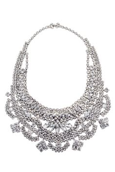 Dumont Crystal Bib Necklace