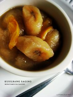 Filipino kusilba, bananas in sweet syrup - add as topping for ice cream, halo halo and other desserts